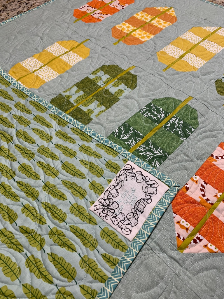 Bridget: Banana Leaves--I created this quilt for a friend who is unable to travel to tropical climate at this time.  (Machine quilted by Dawn Veltema.)