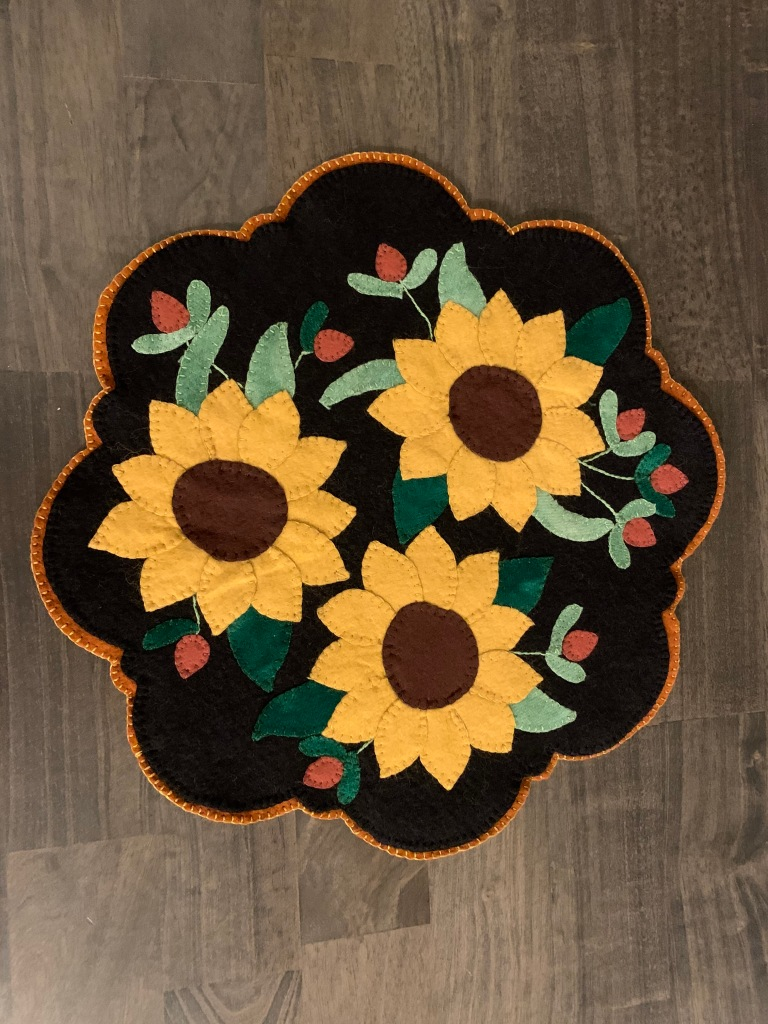 Bridget M - An autumnal Penny Wool Rug--so much fun to work on!
